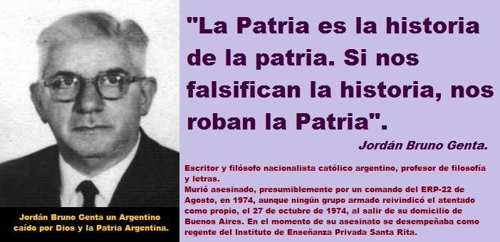 Jordán Bruno Genta y la Patria que duele.