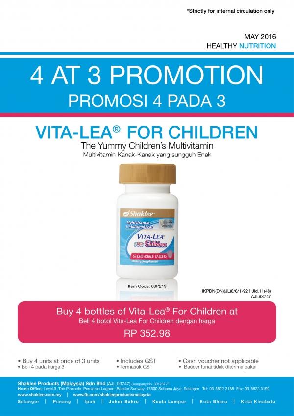 Vitalea Kanak-kanak buy 3 FREE 1