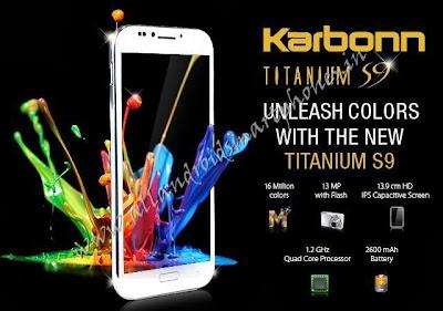 Karbonn Titanium S9 Dual Sim 3G Android Phablet Features Images & Photos Review