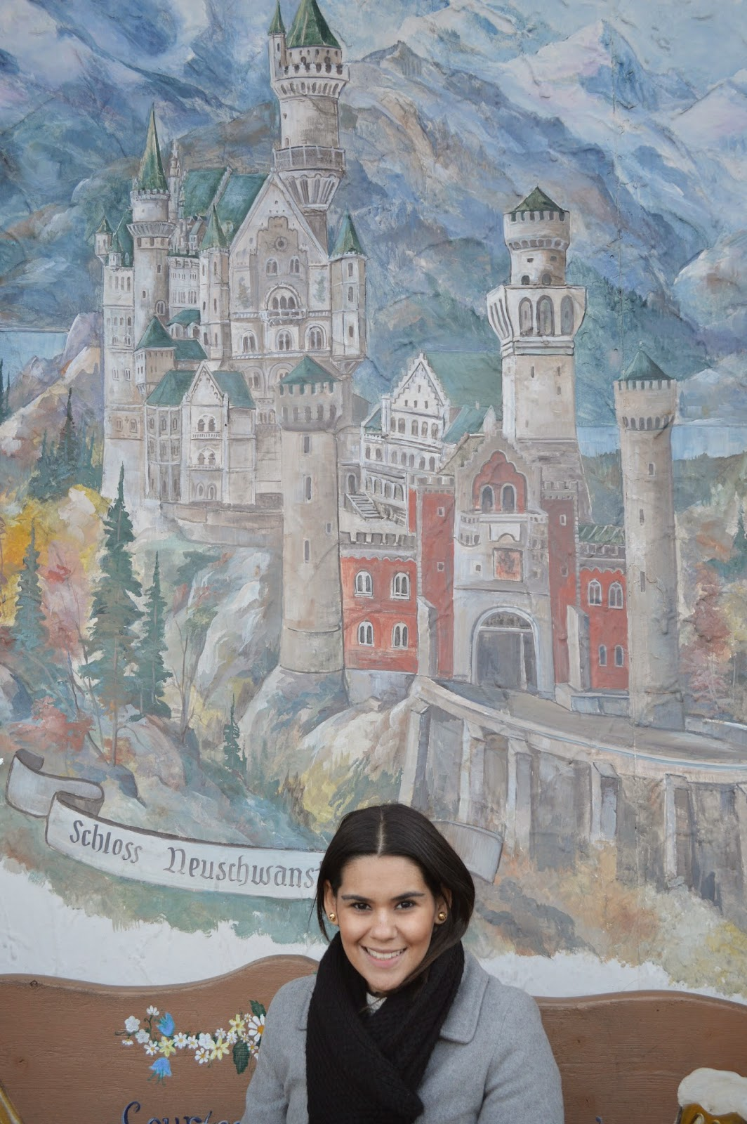 Neuschwanstein castle mural. Leavenworth