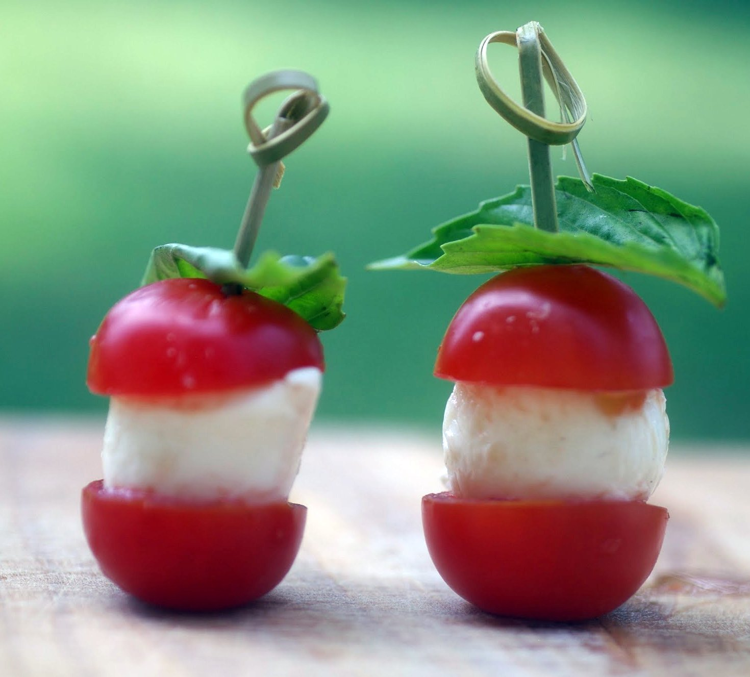 My Catholic Kitchen » Tomato and Mozzarella Skewers, Cat Cora and ...