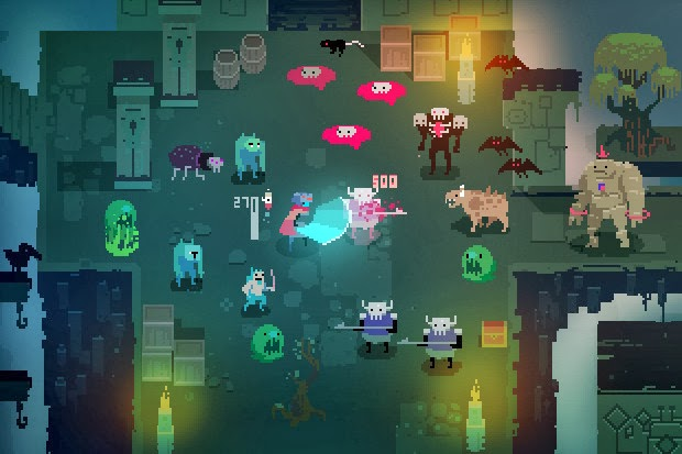 Screenshot of video game Hyper Light Drifter