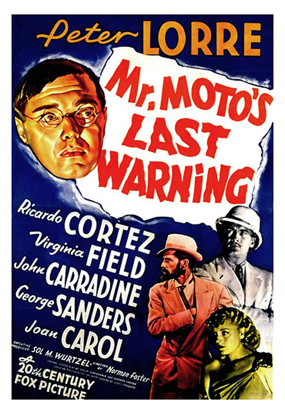 Mr. Moto's Last Warning Vintage Film Poster 1939