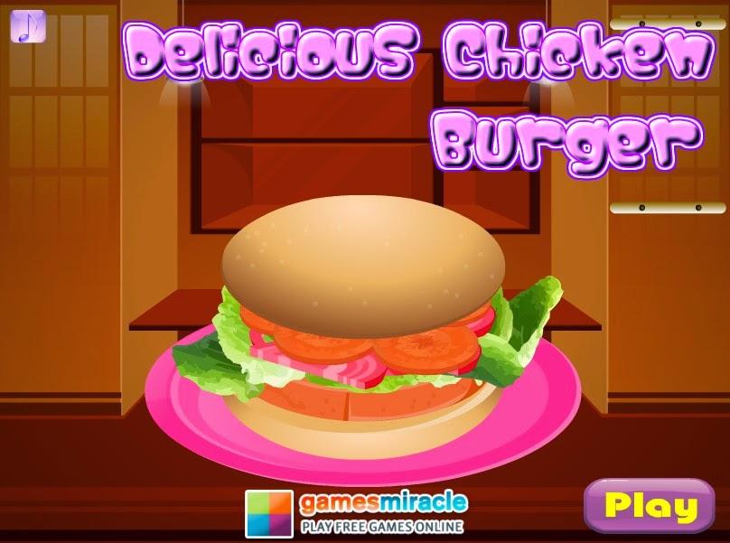 Permainan Memasak Burger Ayam Yang Lezat