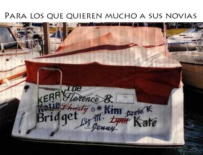 Nombres de barcos - Para los que quieren mucho a sus novias