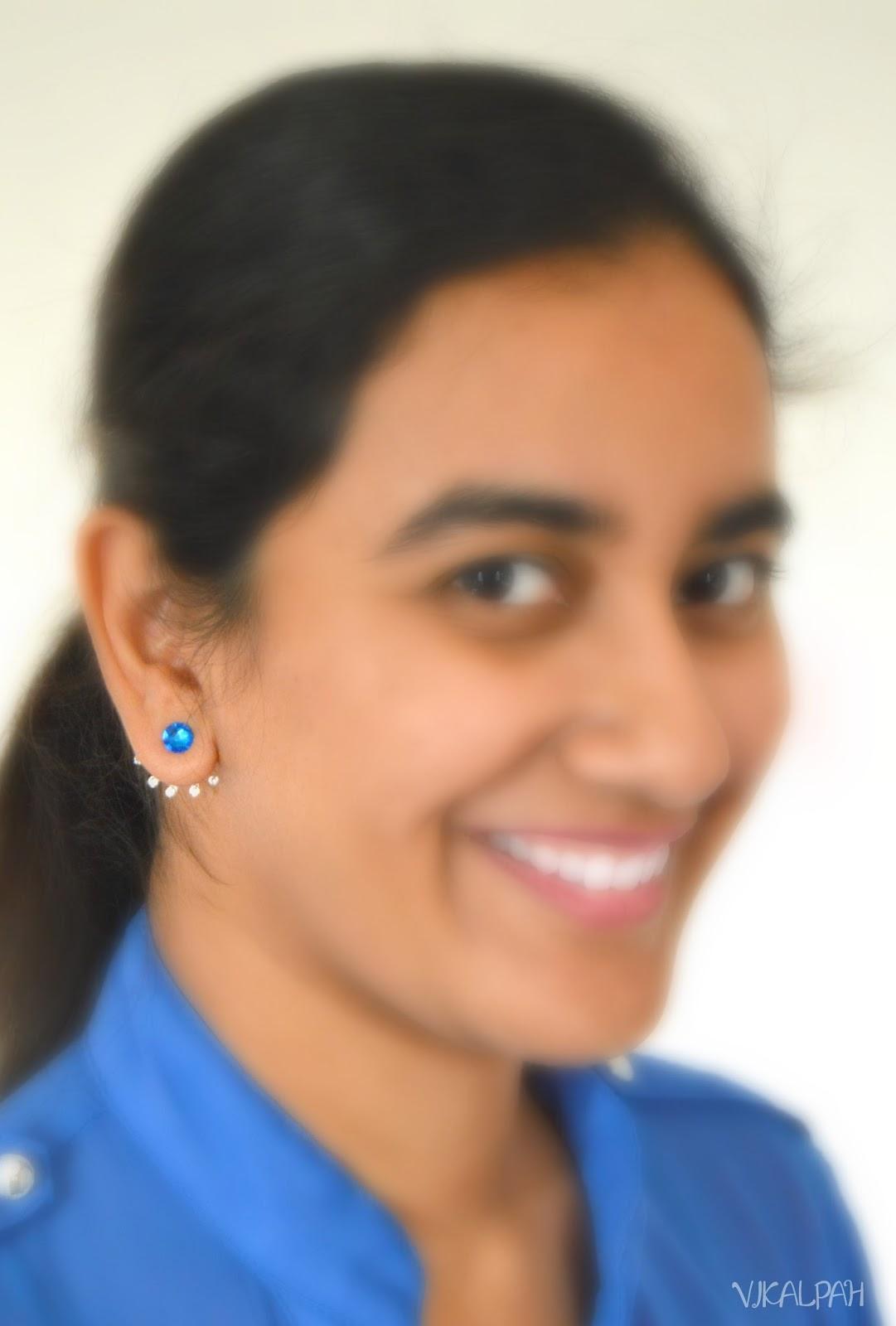 vikalpah diy sided earrings with swarovski post
