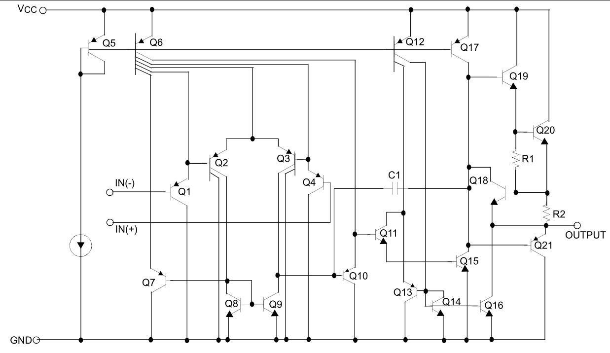 Dictionary Of Electronic Components Lm358 Circuit Diagram Schematic Download Datasheet