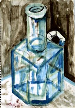 Botella de cristal 1-3-97