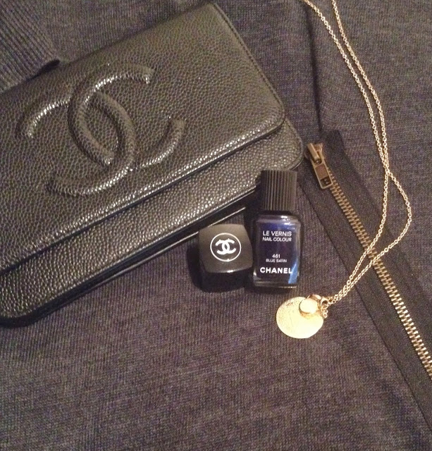 monica vinader, monica vinader jewellery, monica vinader necklace, monica vinader pendant, chanel, chanel bag, chanel clutch, chanel nail polish, chanel nail polish swatch, nail varnish swatch, chanel blue satin swatch, chanel blue satin, chanel 461