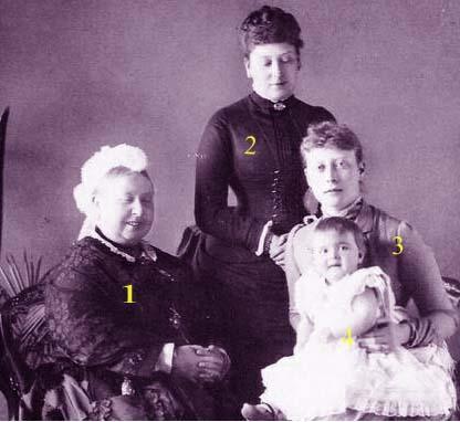 La reine Victoria I de Grande-Bretagne et d'Irlande... en famille
