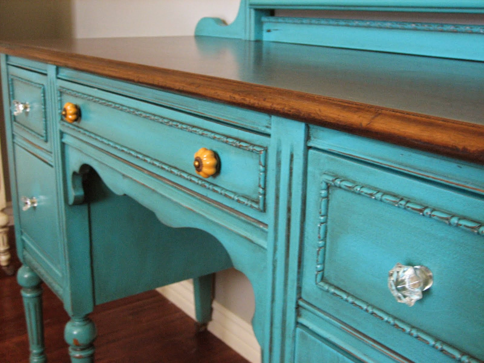 Bedroom Cool Painted Turquoise Vintage