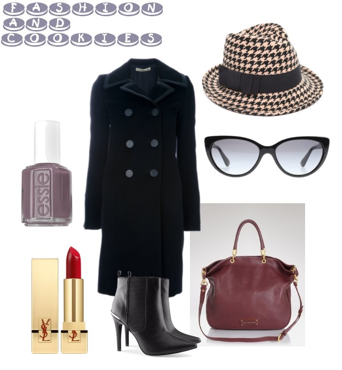 Balenciaga coat, pied de poule hat, Fashion and Cookies