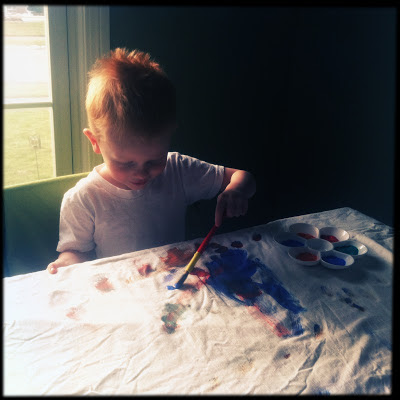 Porter Loves to Paint!