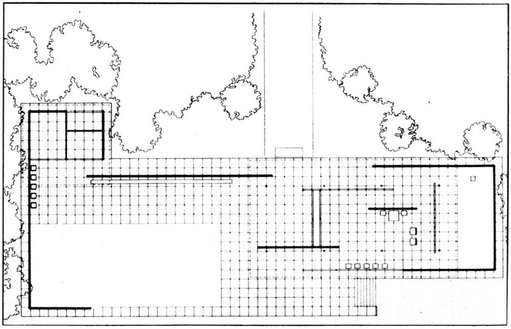 modern architecture baer open plan le corbusier vs mies van der rohe. Black Bedroom Furniture Sets. Home Design Ideas