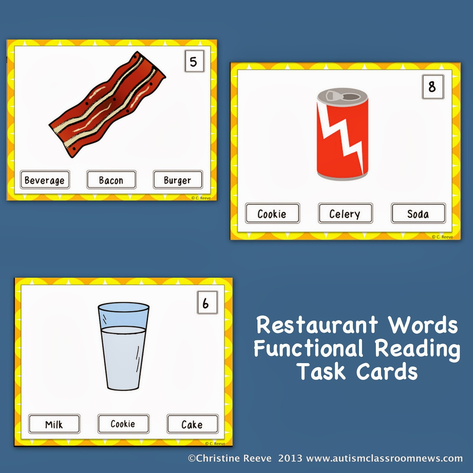 Functional Reading Tasks and IEP Goals Autism Classroom Resources – Grocery Words