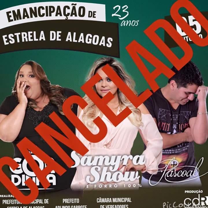 Sem recursos, prefeito de Estrela de Alagoas cancela show de emancipação