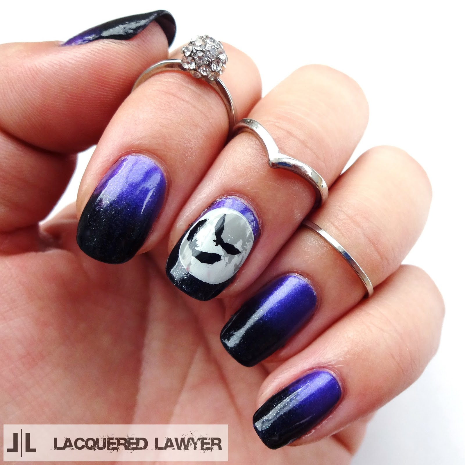 Full Moon Nail Art