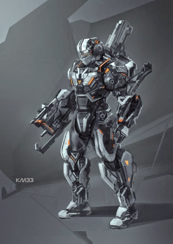 Vincentius Matthew deviantart ilustrações ficção científica robôs futuristas sombrio