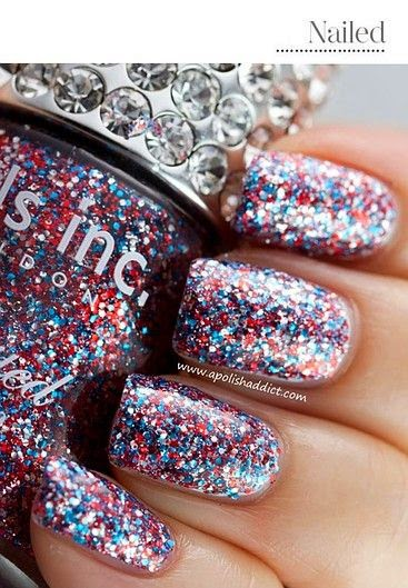 Nail designs want to just get out to the party already without having to spend all the time doing your nails we dont blame you at all why not try a simple glitter solutioingenieria Choice Image