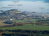 Tona i el Turó del Castell des del Mirador del Pirineu