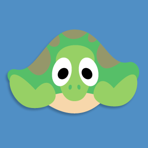 Turtle mask template for Tortoise mask template