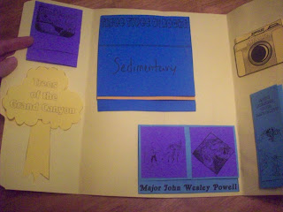 Second section of a finished lapbook