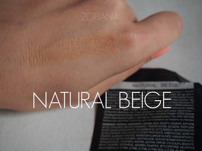 avon podkład swatch natural beige
