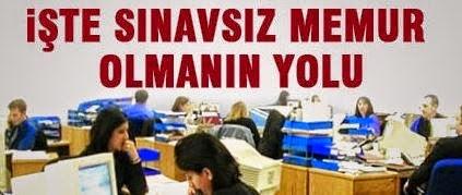 kamu sınavsız memur alımı