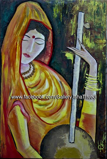 "Meera Painted by Isha Trivedi ""Isha Trivedi"""