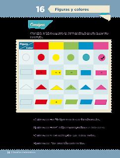 Respuestas Apoyo Primaria Desafíos matemáticos 3er grado Bloque 1 lección 16 Figuras y colores