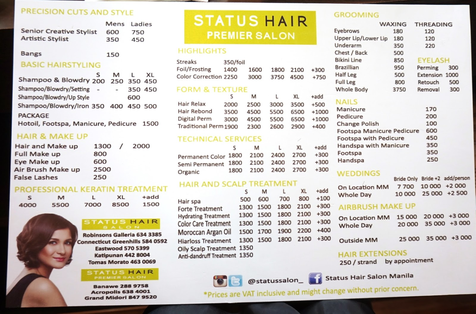 Regis salon prices hair color regis hair salon prices for Menage salon