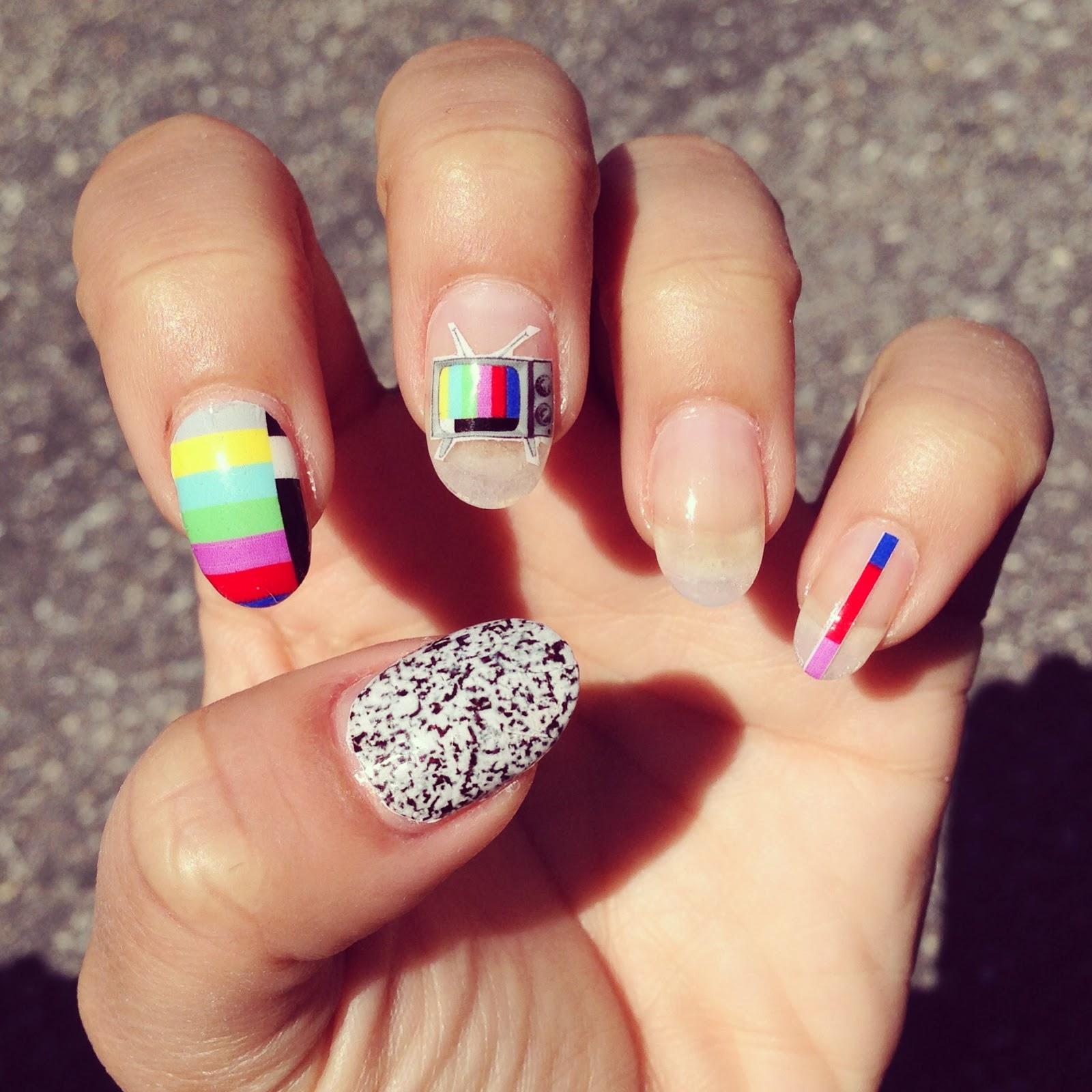 Images Of Heart Nail Art: Heart cutouts chalkboard nails nail art.
