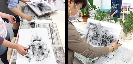 横浜美術学院の中学生教室 美術クラブ 制作風景1