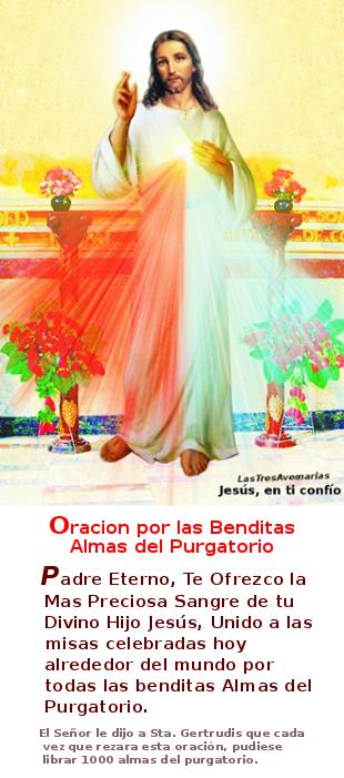 divina misericordia con oracion para las animas