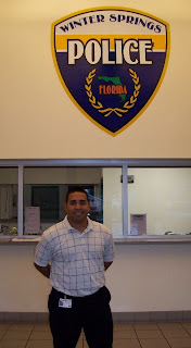 Correa did his internship with the Winter Springs Police Department in Florida.