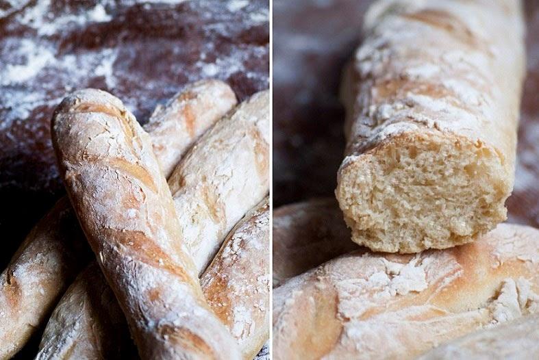 baguettes maison, recette baguette, recette pain, pain maison, pain sans pétrissage