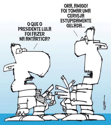 O que o presidente Lula foi fazer na antartica??