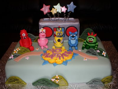 Gabba Gabba Birthday Cakes on Palermo S Custom Cakes In New Jersey We Have This Cool Yo Gabba Cake