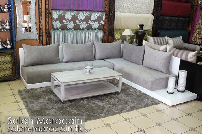salon marocain moderne gris 2014 d coration salon. Black Bedroom Furniture Sets. Home Design Ideas
