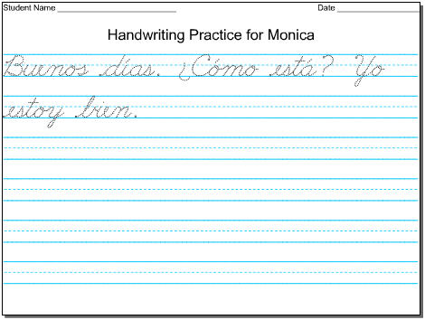 Easily Make Beautiful Handwriting Practice Worksheets