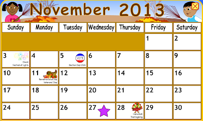 Starfall Calendar Calendar (1,2)