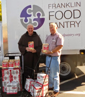 The Franklin Food Pantry received the potatoes