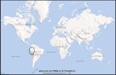 Ubicación de PERU en El Planisferio, BING