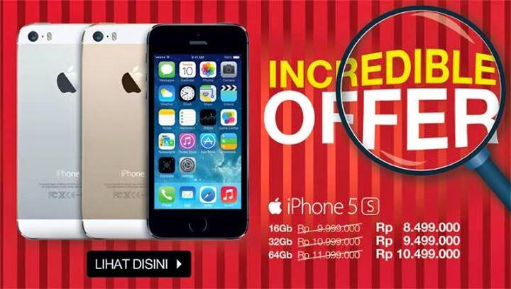 Promo iPhone 5s Harga Mulai Rp 8.499.000