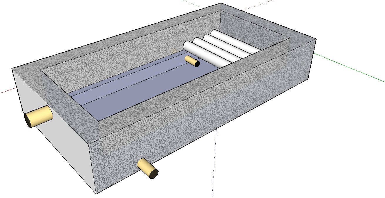 Chico aquaponic gravel bio filter for Pond gravel filter design