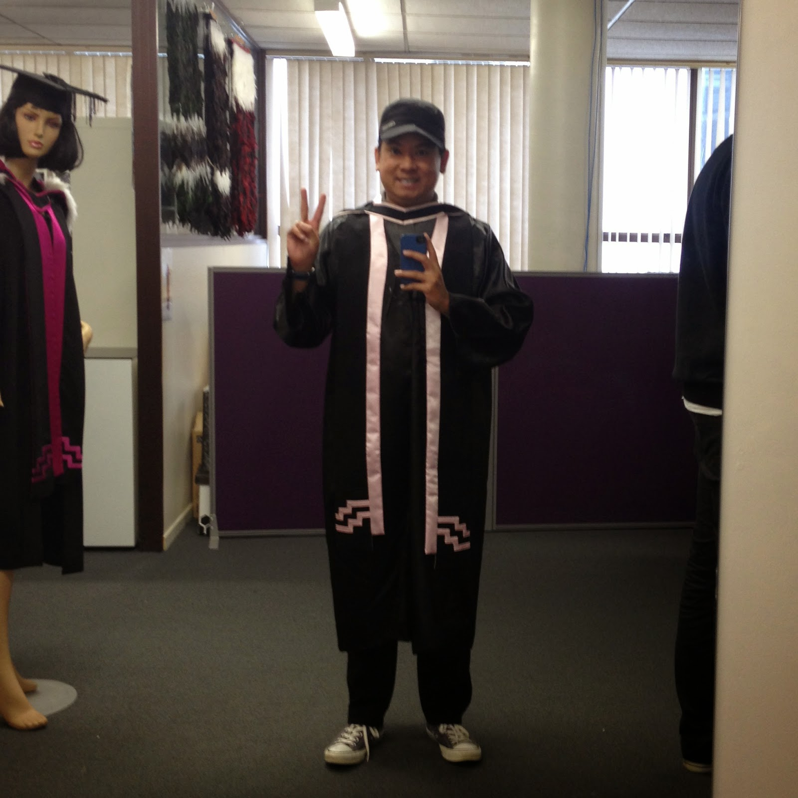is me wearing my UP Law gown, Auckland Uni PGDip scarf, and Auckland ...
