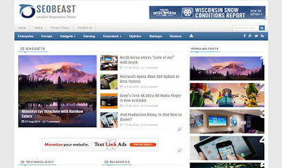 SEO beast blogger template