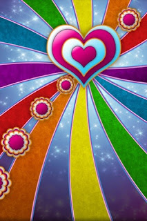 Colorful Love Wallpaper 320x480