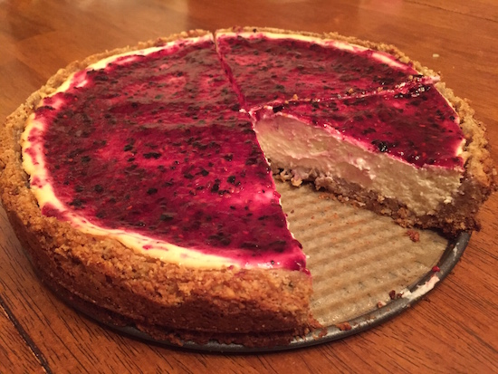Homemade berry cheesecake