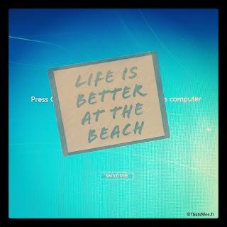 Holidays Life is better the Beach sticker My Little Box Paris